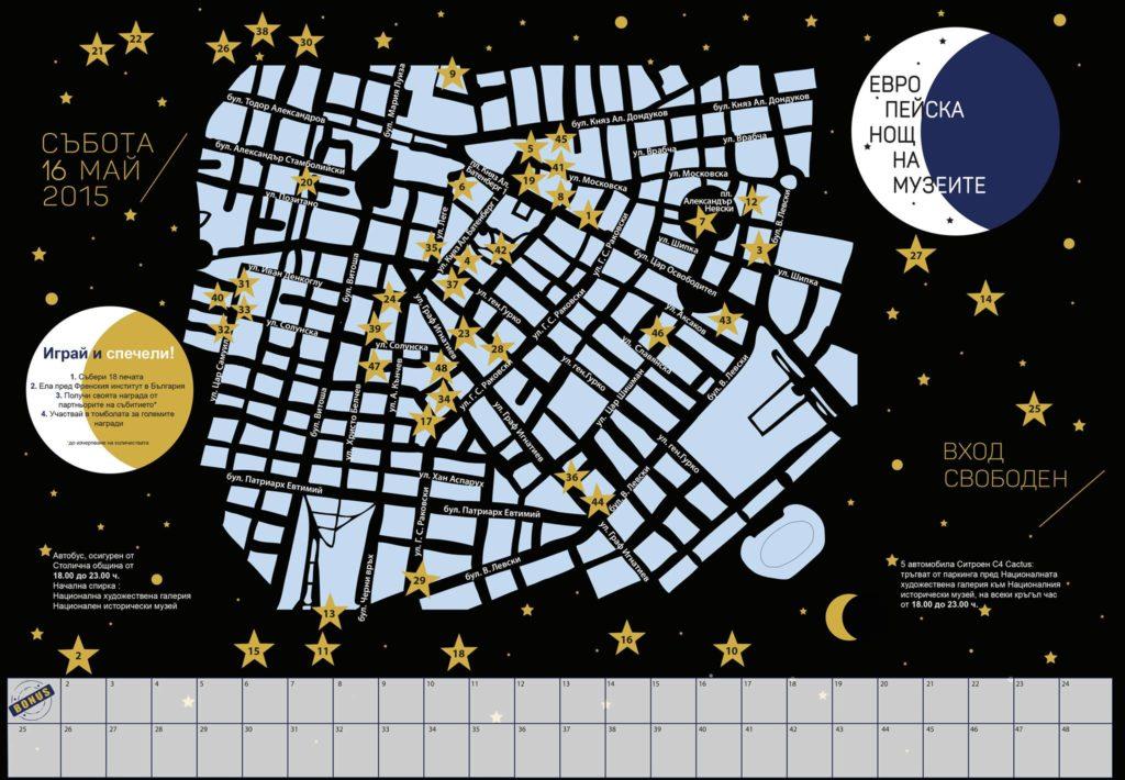 Европейска нощ на музеите- карта