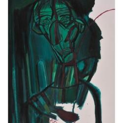 Румен Скорчев-Автопортрет в зелено ІІ, 2005