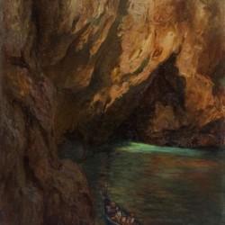 лександър Мутафов - Пещерата - маслени бои платно