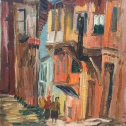 """Златю Бояджиев, """"Улица """"Кирил Нектариев"""" в Стария Пловдив"""", 1954 г."""