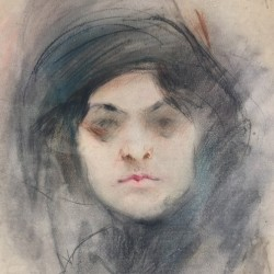 """Александър Божинов, """"Дамски портрет"""", 1911 г."""