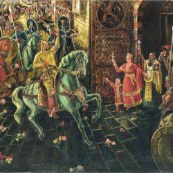 Лавренов- Посрещането на цар Симеон в Преслав 1941