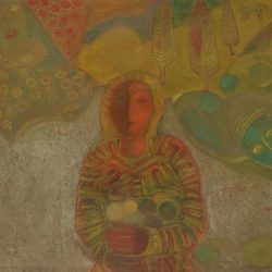 Димитър Казаков - Момиче с плодове, 1976 г., Национална галерия