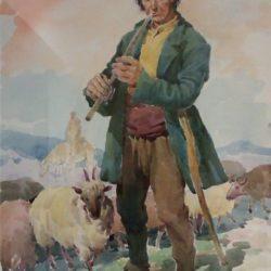 Иван Манойлов -Пастир, акварел