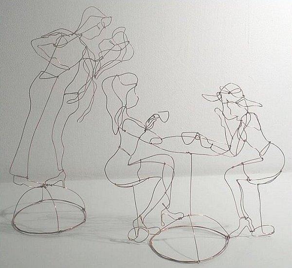 Тихомир Тодоров - скулптури от тел