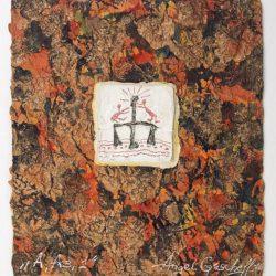 Ангел Гешев- A – Аз, непалска ръчна хартия, смесена техника, 15 х 17 см