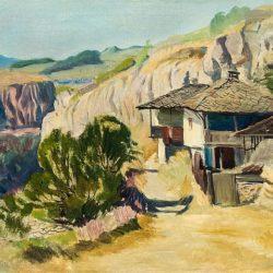 """Борис Денев - """"Селски къщи"""", 30-те г. на ХХ в."""