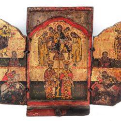 Дейсис, св. Константин и св. Елена, Благовещение и светци