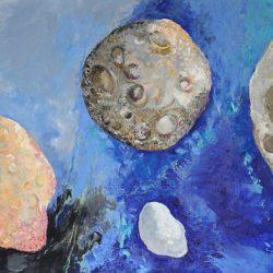 Катрин Томова -Астероид 6, 2017 г., маслени бои, платно, 150 х 210 см