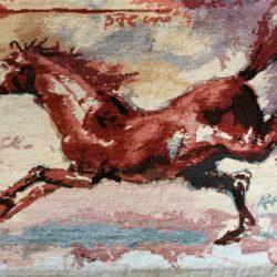 Роберт Баръмов - килим с кон