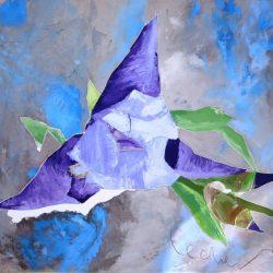 Георги Лечев - Кореспонденция в лилаво, маслени бои, платно, 70 х 80 см