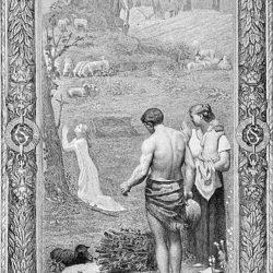 Детството на Св. Женевиев, по Пюви де Шаван, 1878 г