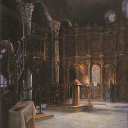 Христо Станчев - Интериор на църквата Св. Константин и Елена в Пловдив 1898