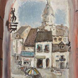 Дечко Узунов -Пейзаж от Испания, 70-те години на ХХ в.