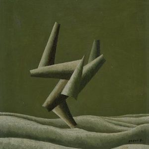 ЖОРЖ ПАПАЗОВ (1894–1972), Композиция, маслени бои, платно, 41 х 33 см