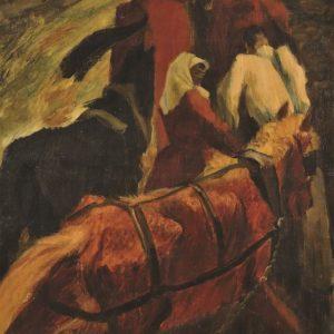 ЗЛАТЮ БОЯДЖИЕВ (1903-1976), Коне, 1949, маслени бои, платно, 140 х 95 см