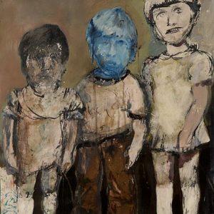 Милош Гавазов - Първи братовчеди,темпера,картон,2008г.70х50см.