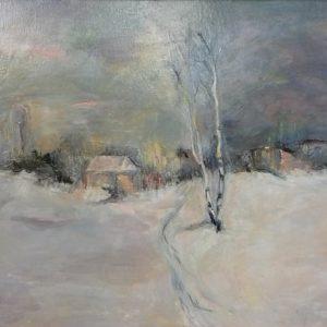 Петър Ройдов -Зима в покрайнините на София - 450 лв