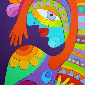 А. Димова-Танцуващата с пеперуди 50x70